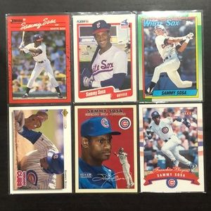 Sammy Sosa Baseball Card (6) *includes 3 RCs *NM+*